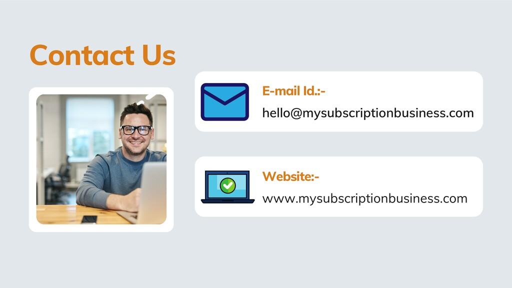 hello@mysubscriptionbusiness.com E-mail Id.:- w...