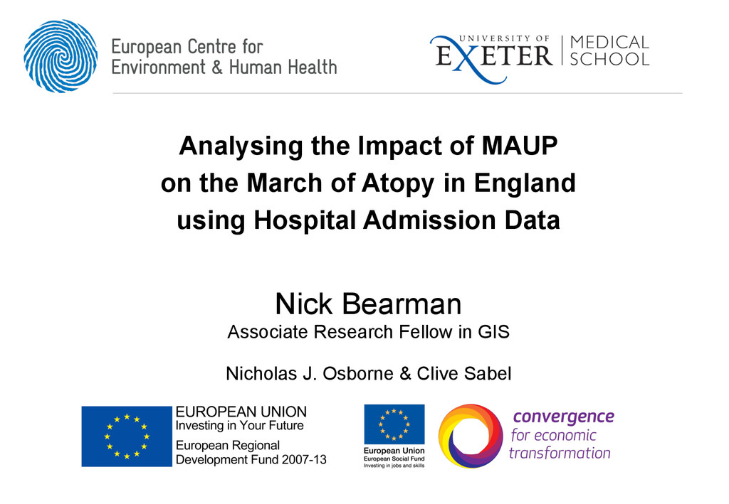 Analysing the Impact of MAUP on the March of At...