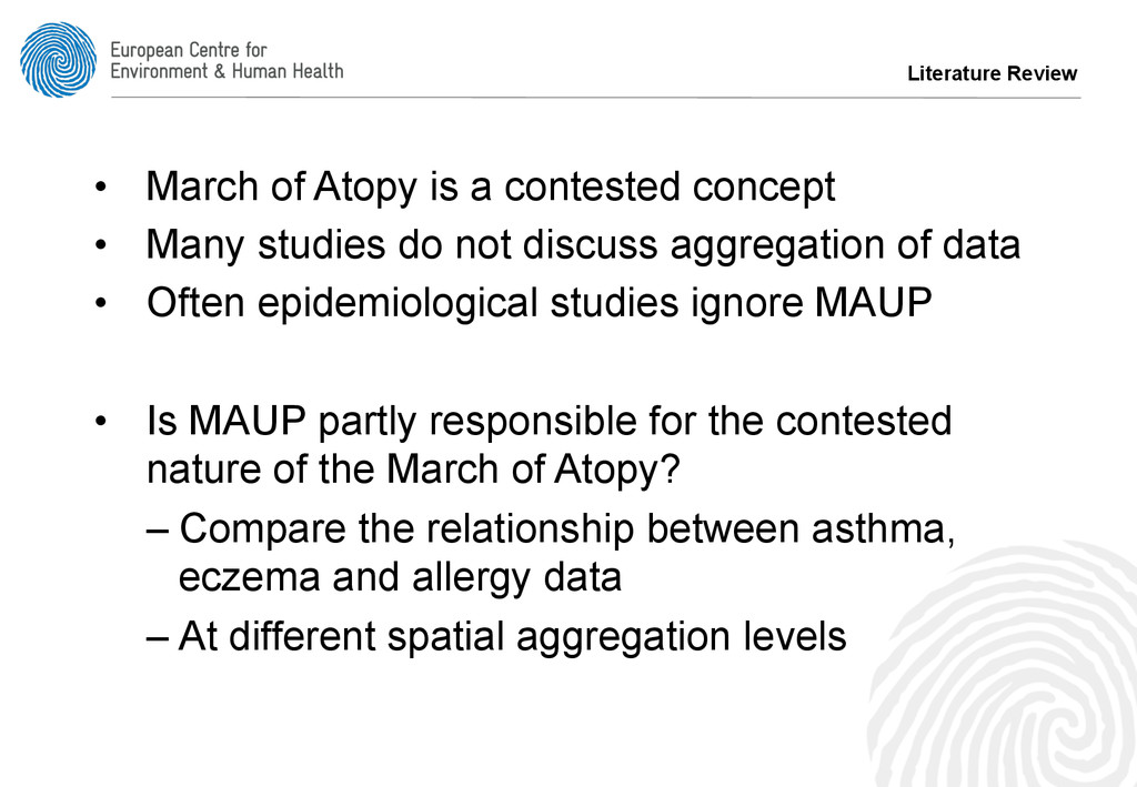 • March of Atopy is a contested concept • Man...