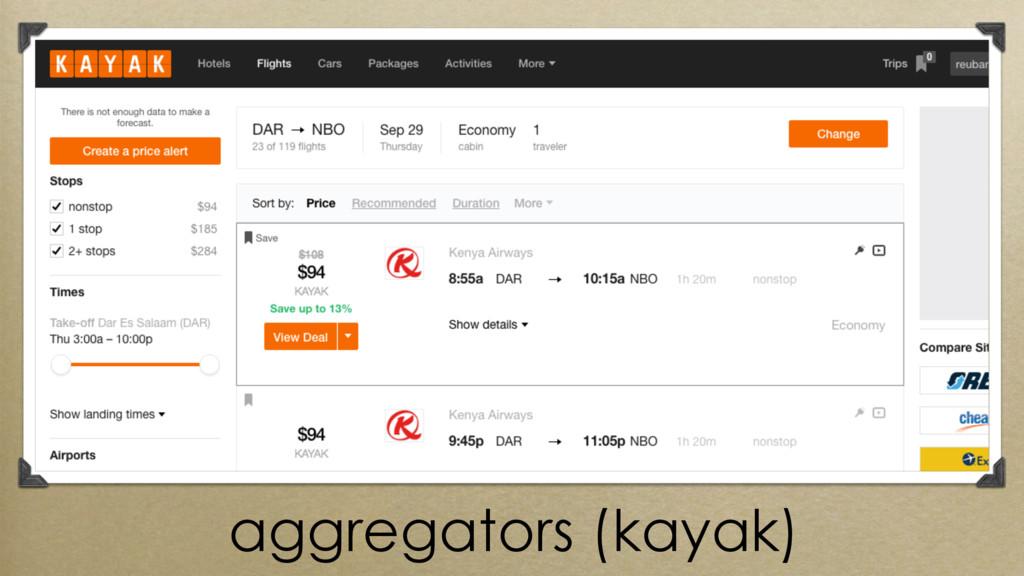 aggregators (kayak)