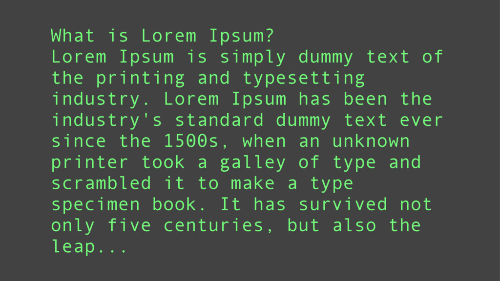 What is Lorem Ipsum? Lorem Ipsum is simply dumm...