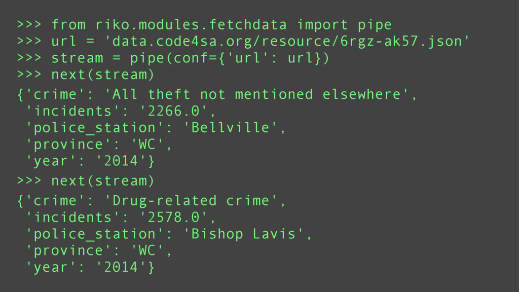 >>> from riko.modules.fetchdata import pipe >>>...