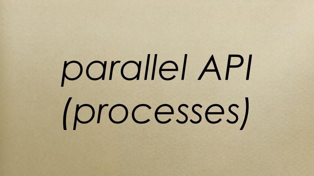 parallel API (processes)