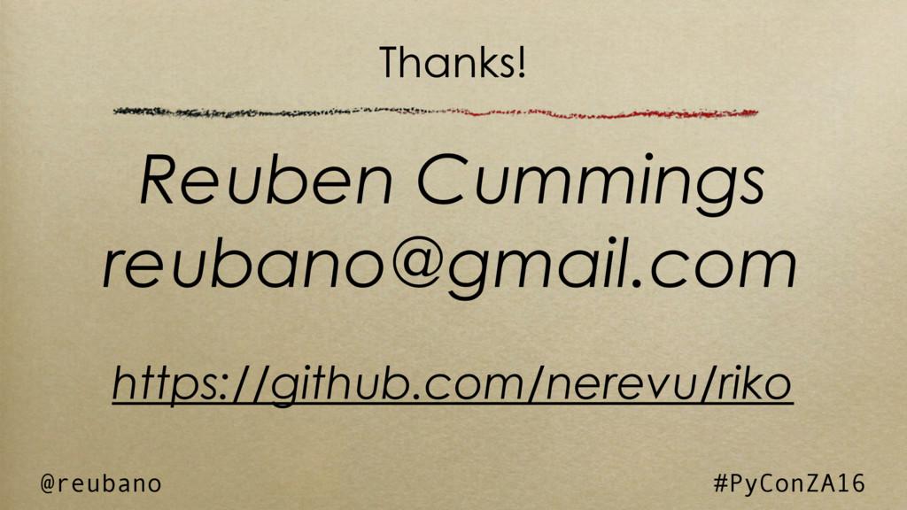 Reuben Cummings reubano@gmail.com https://githu...