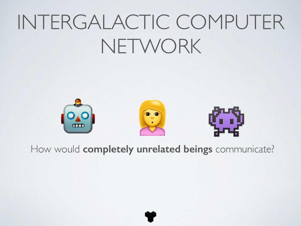 INTERGALACTIC COMPUTER NETWORK    How would com...