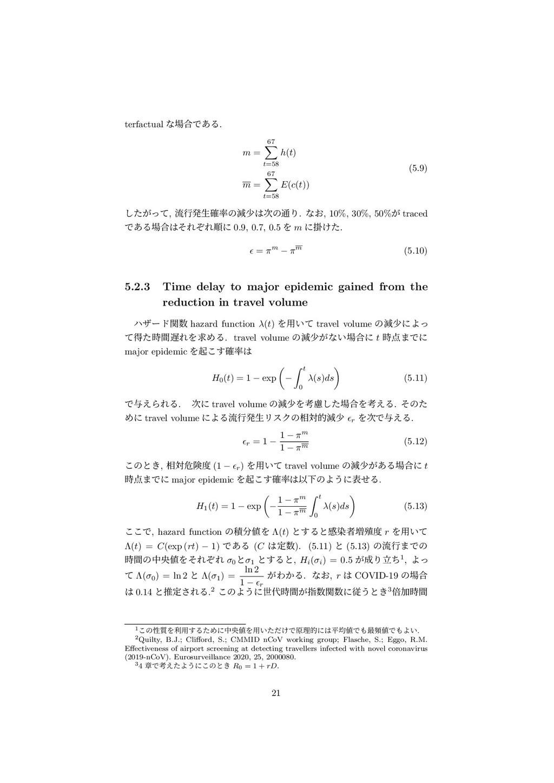 terfactual ͳ߹Ͱ͋Δ. m = 67 ∑ t=58 h(t) m = 67 ∑ ...
