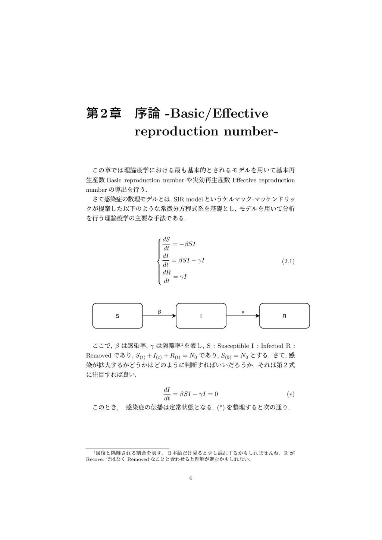 ୈ2ষ ং -Basic/Effective reproduction number- ͜ͷষ...