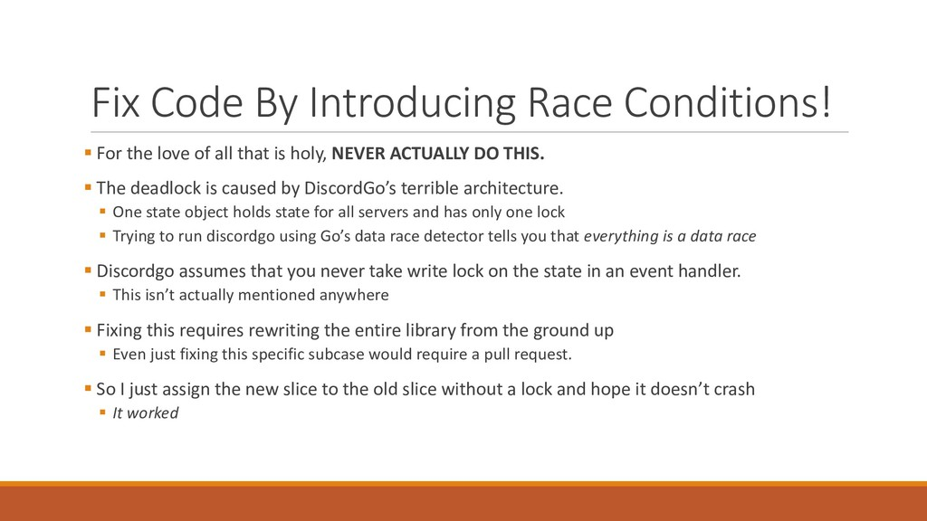 Fix Code By Introducing Race Con...