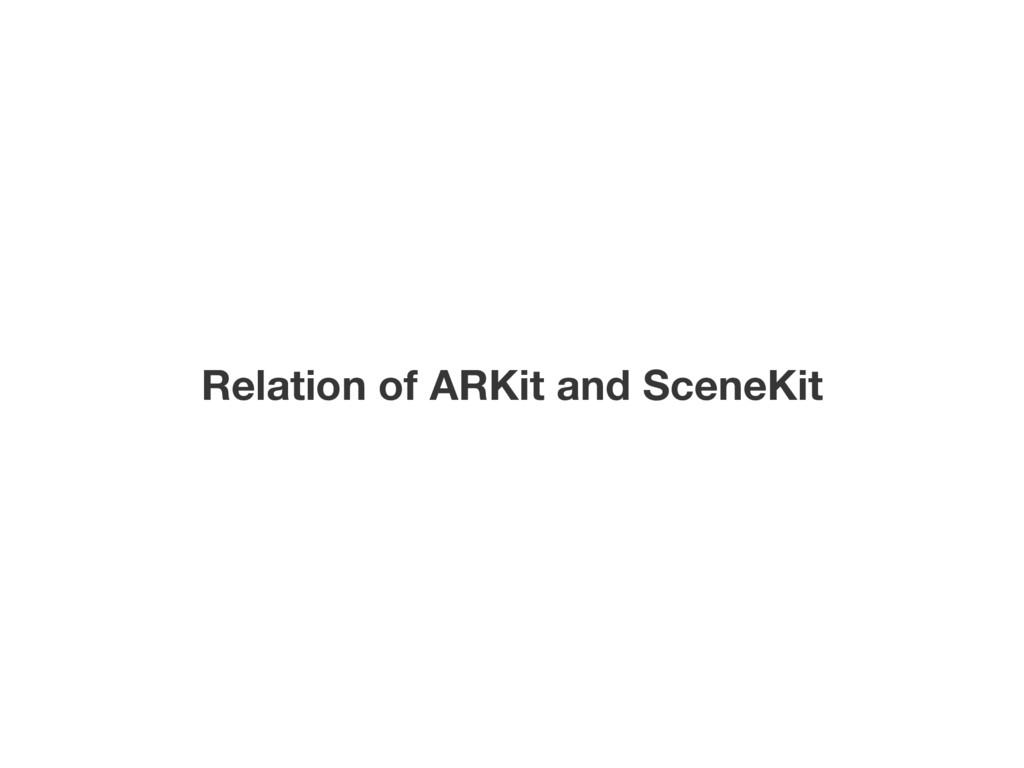 Relation of ARKit and SceneKit