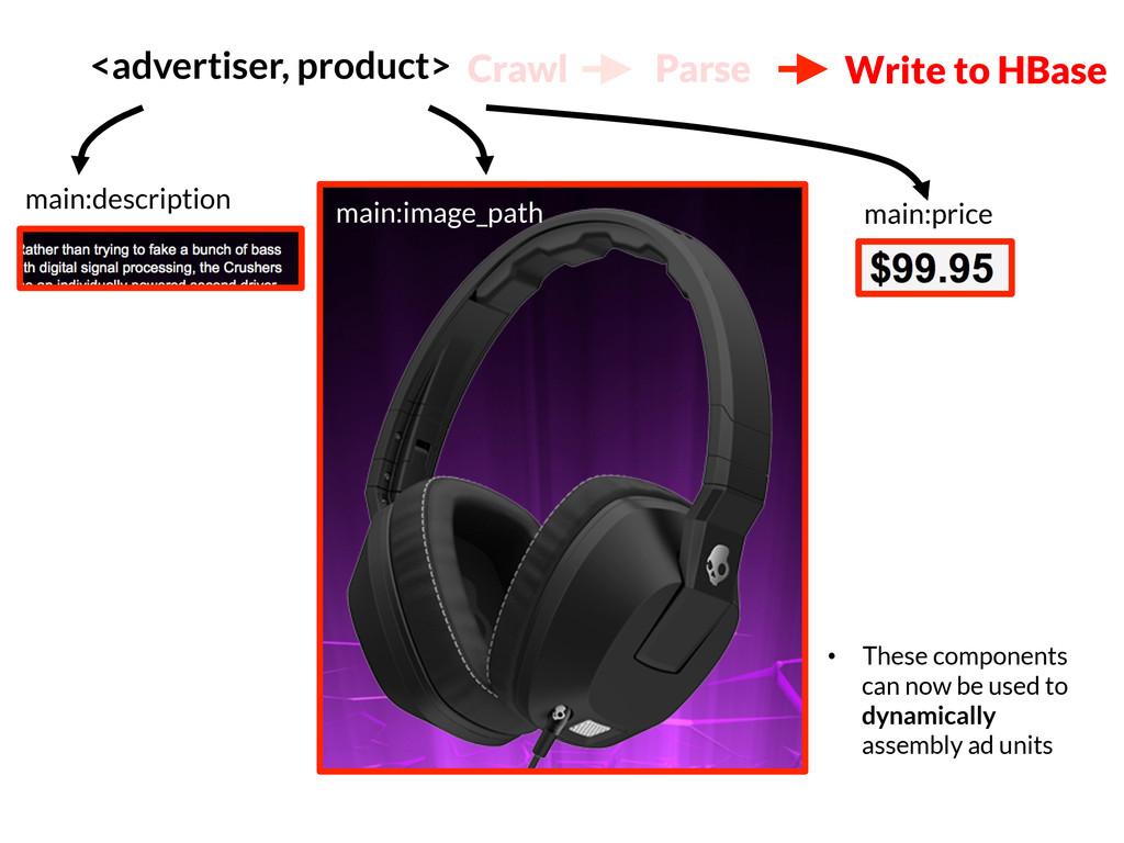 <advertiser, product> main:image_path main:de...
