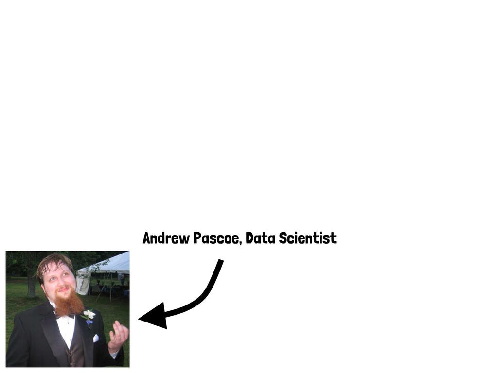 Andrew Pascoe, Data Scientist