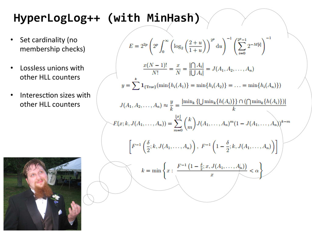 HyperLogLog++ (with MinHash)  • Lossl...