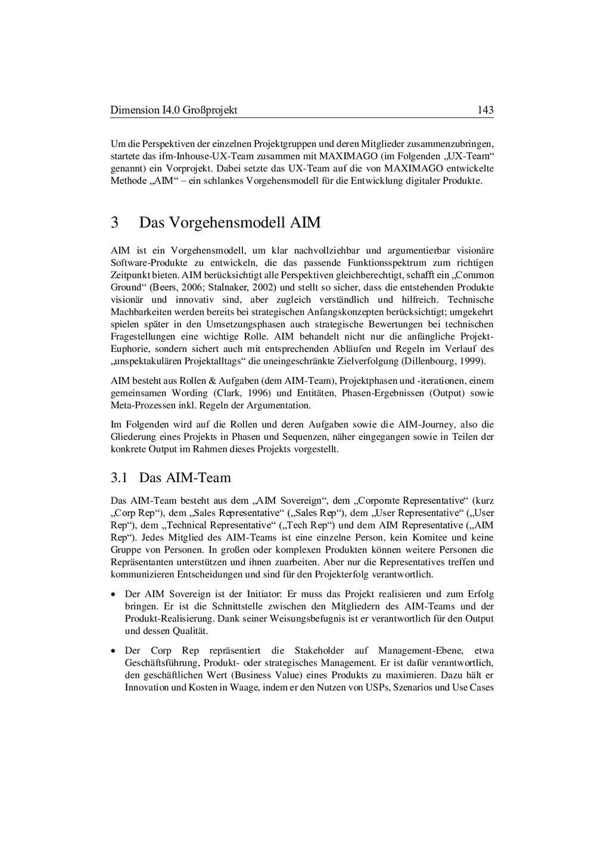 Dimension I4.0 Großprojekt 143 Um die Perspekti...
