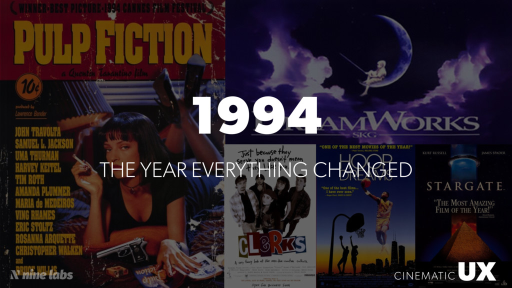 UX CINEMATIC 1994 UX CINEMATIC THE YEAR EVERYTH...