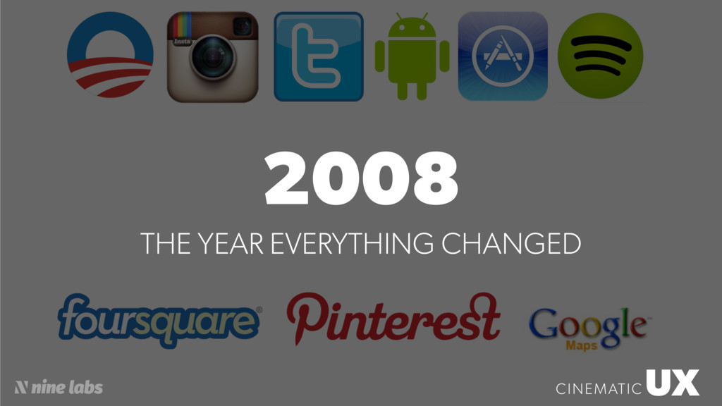 2008 THE YEAR EVERYTHING CHANGED UX CINEMATIC