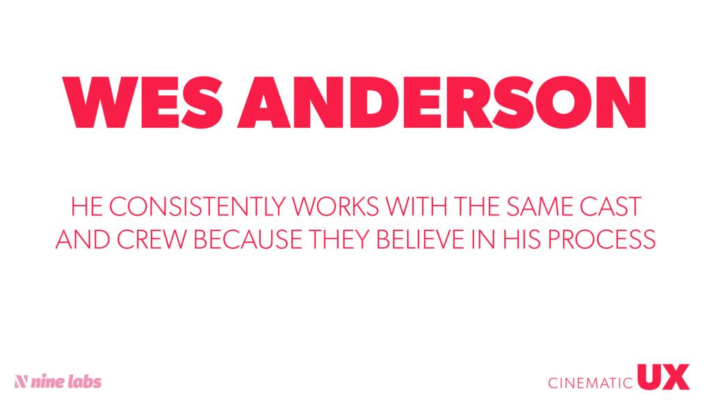 @sbradweaver WES ANDERSON UX CINEMATIC HE CONSI...