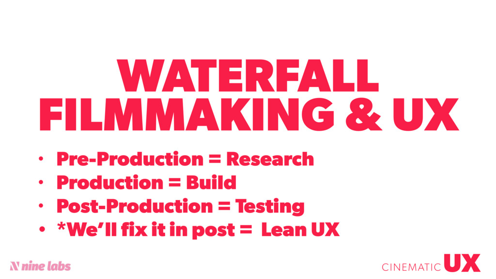 WATERFALL FILMMAKING & UX UX CINEMATIC • Pre-Pr...
