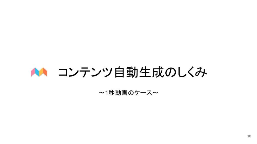 コンテンツ自動生成のしくみ 10 〜1秒動画のケース〜