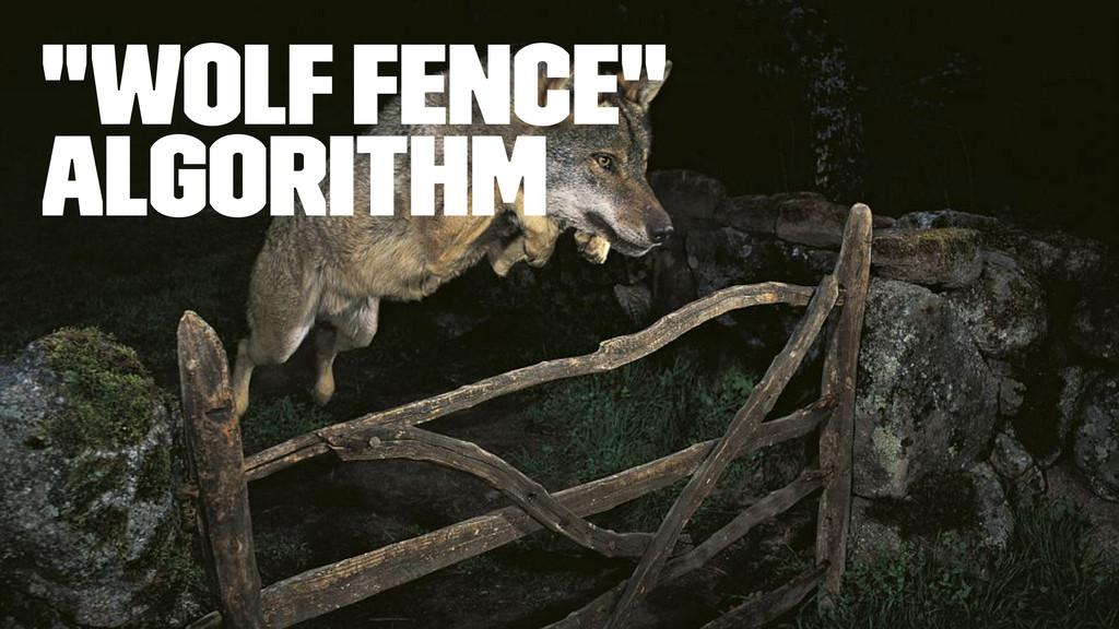 """Wolf fence"" algorithm"