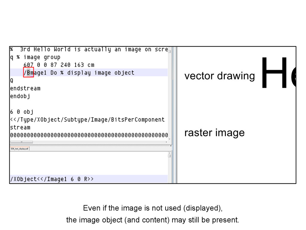 Even if the image is not used (displayed), the ...