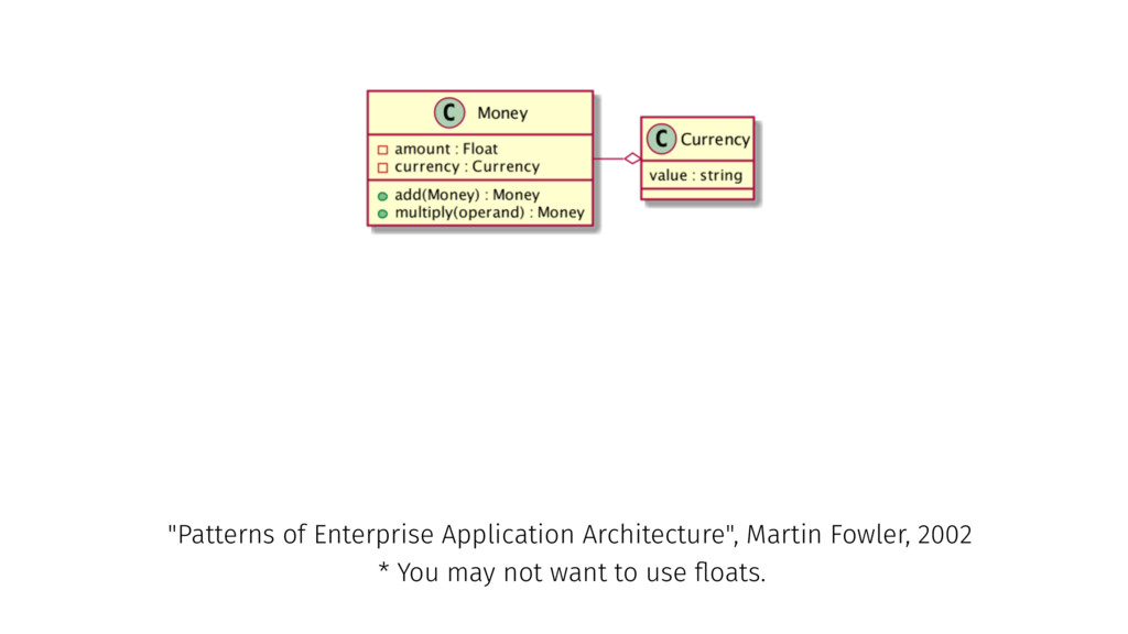 """* You may not want to use floats. """"Patterns of E..."""