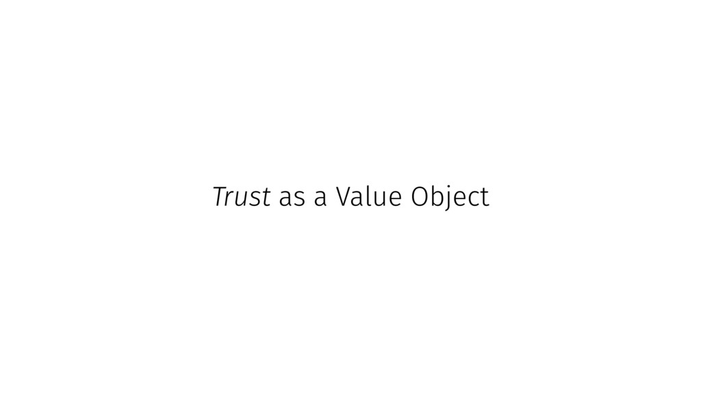 Trust as a Value Object