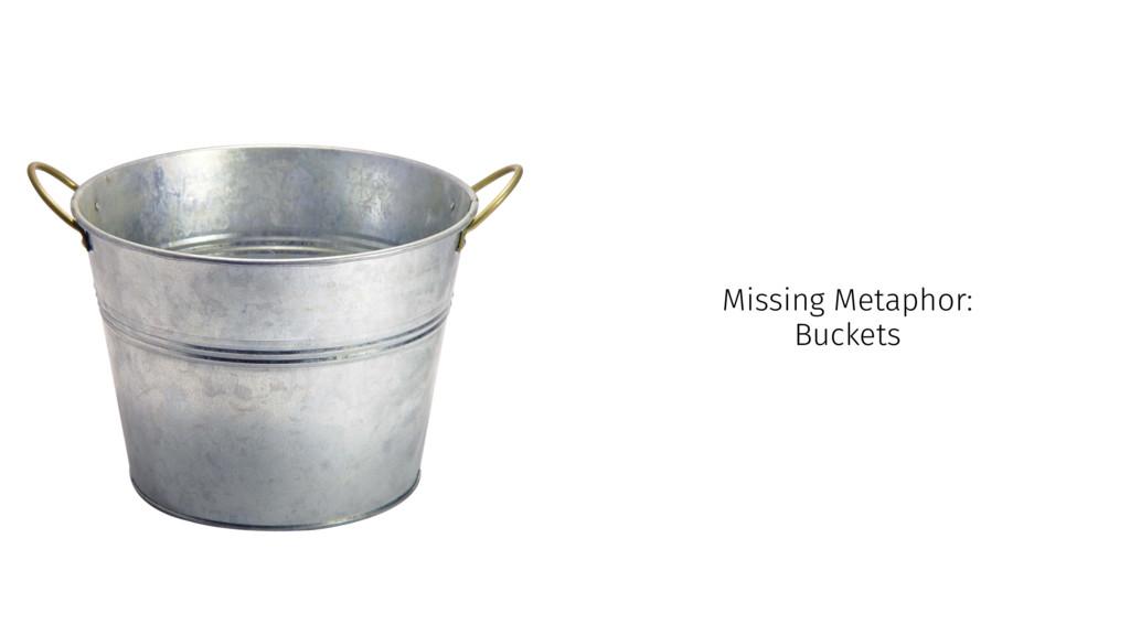 Missing Metaphor: Buckets