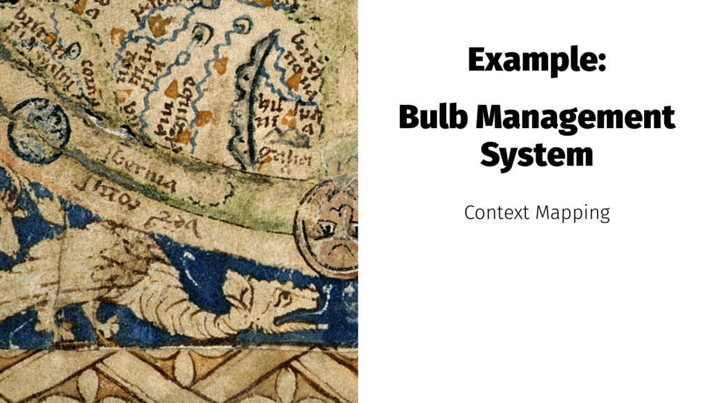 Example: Bulb Management System Context Mapping