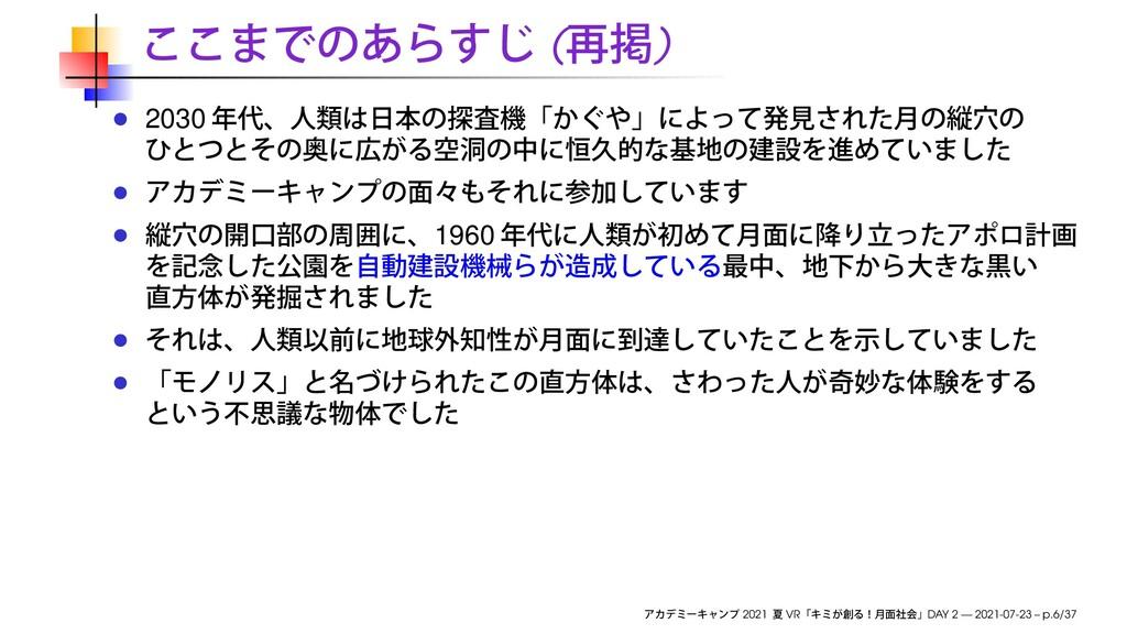 ( ) 2030 1960 2021 VR DAY 2 — 2021-07-23 – p.6/...