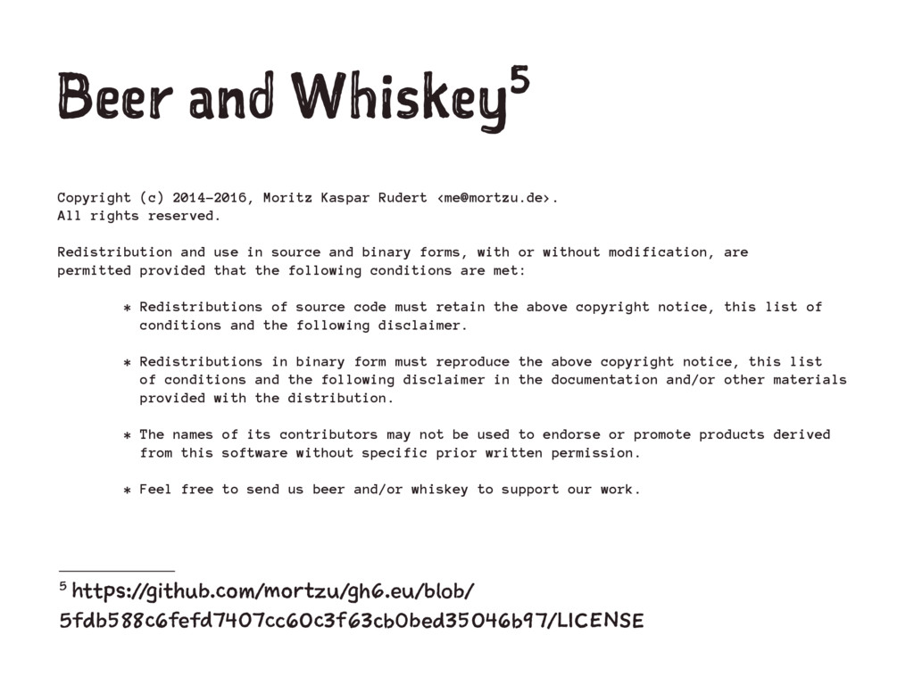 Beer and Whiskey5 Copyright (c) 2014-2016, Mori...