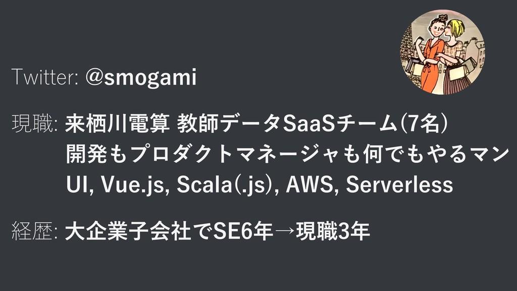 Twitter: @smogami 現職: 来栖川電算 教師データSaaSチーム(7名) 開発...