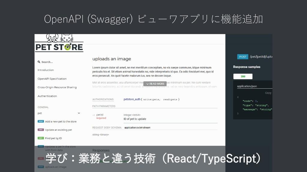 OpenAPI (Swagger) ビューワアプリに機能追加 学び:業務と違う技術(React...