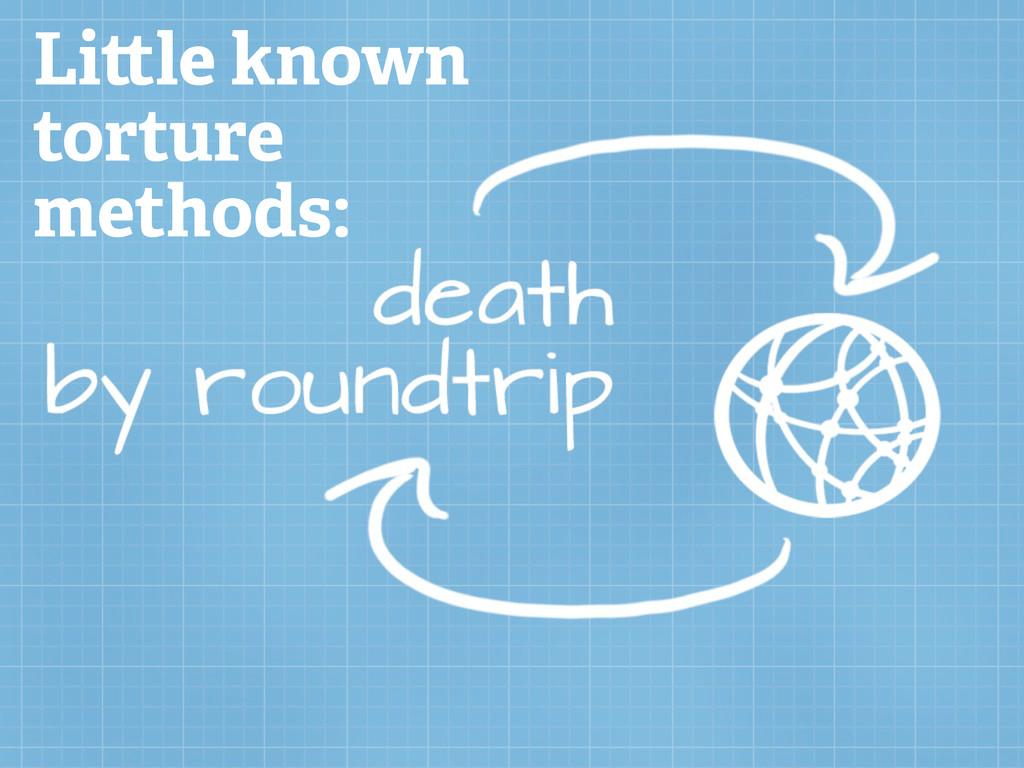 Li le known torture methods: