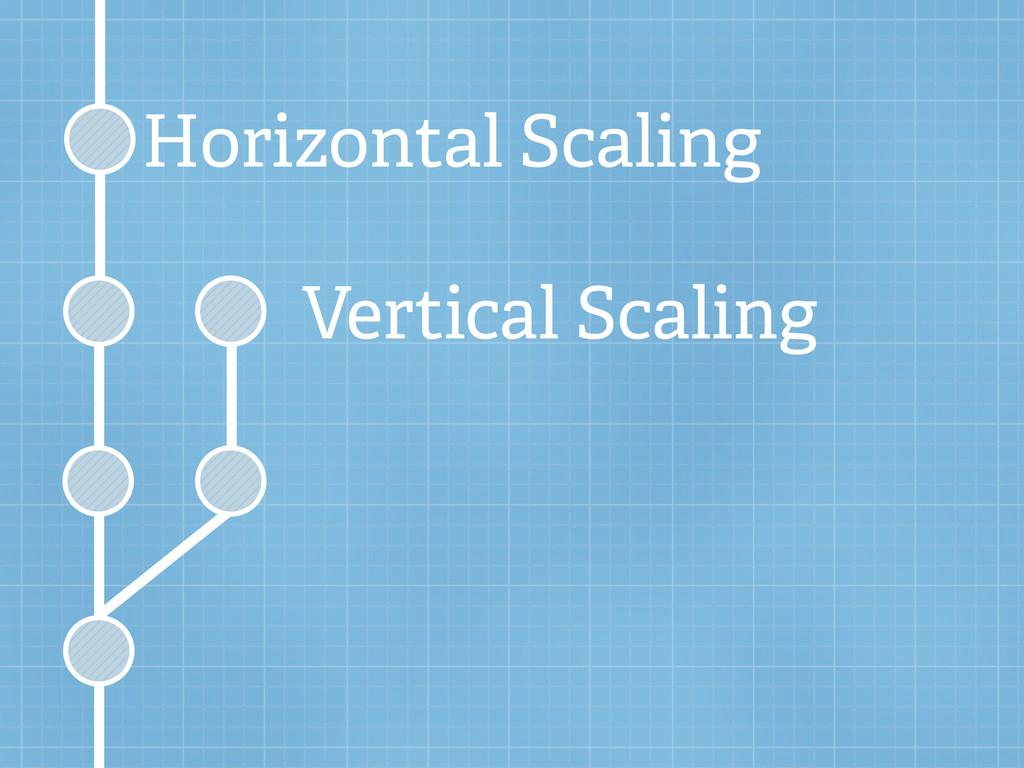Horizontal Scaling Vertical Scaling