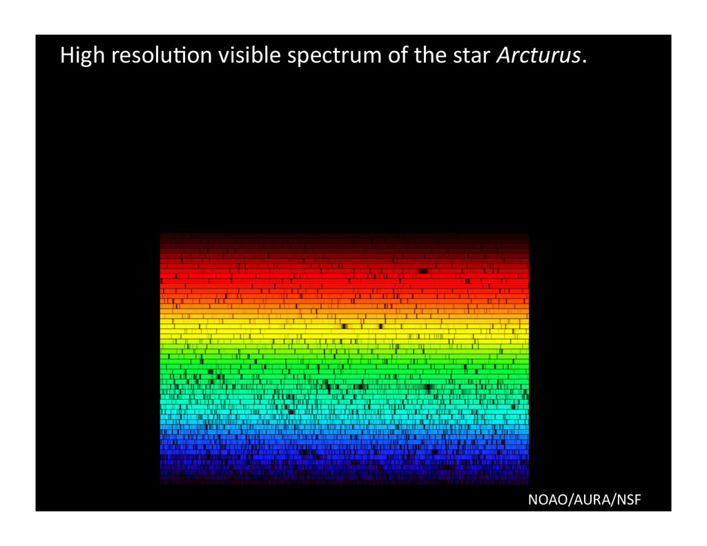 High resolu/on visible spectrum of...