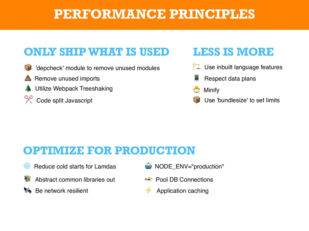PERFORMANCE PRINCIPLES LESS IS MORE OPTIMIZE FO...