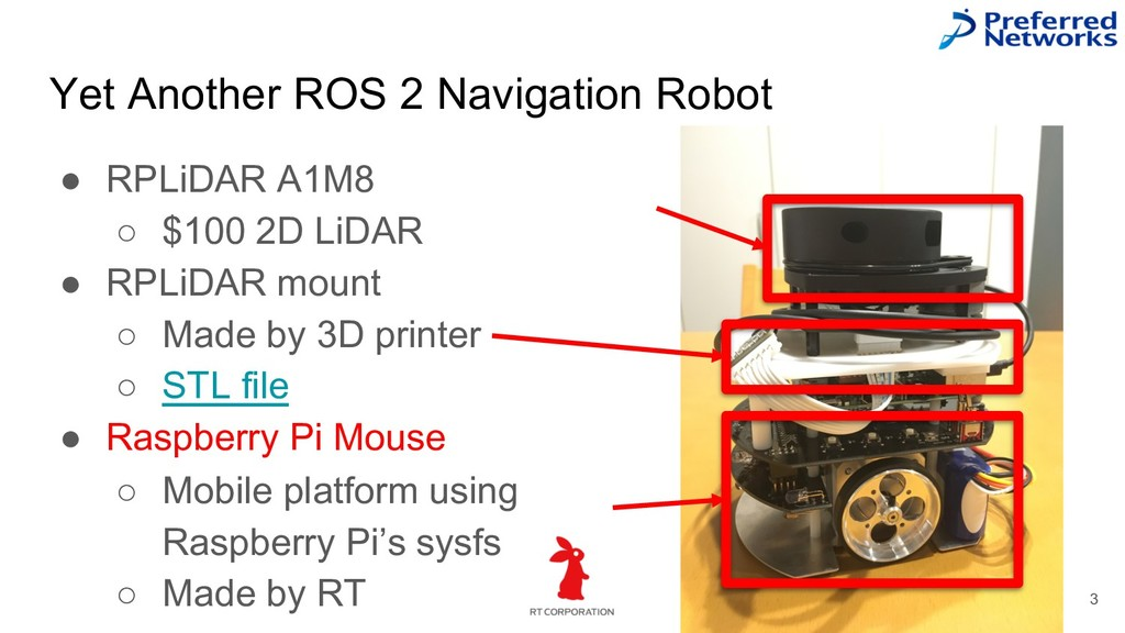 Yet Another ROS 2 Navigation Robot 3 ● RPLiDAR ...