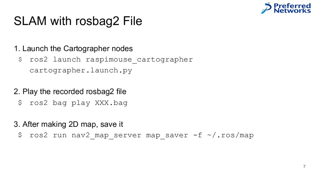SLAM with rosbag2 File 7 1. Launch the Cartogra...