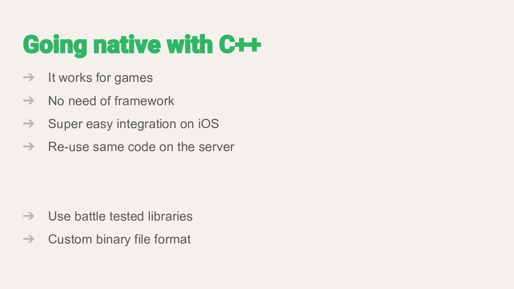 ➔ It works for games ➔ No need of framework ➔ S...