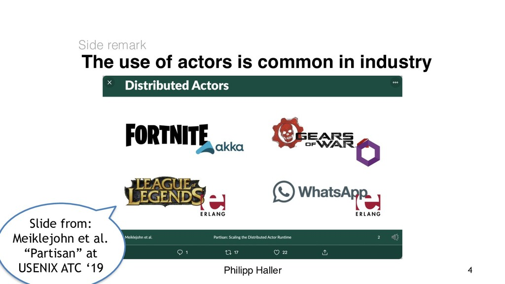 Philipp Haller The use of actors is common in i...