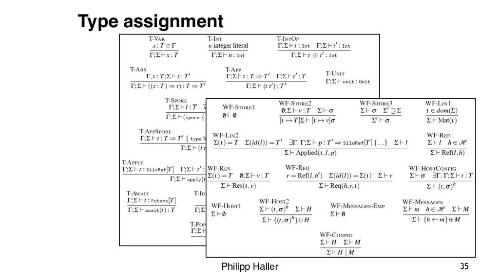 Philipp Haller 35 Type assignment