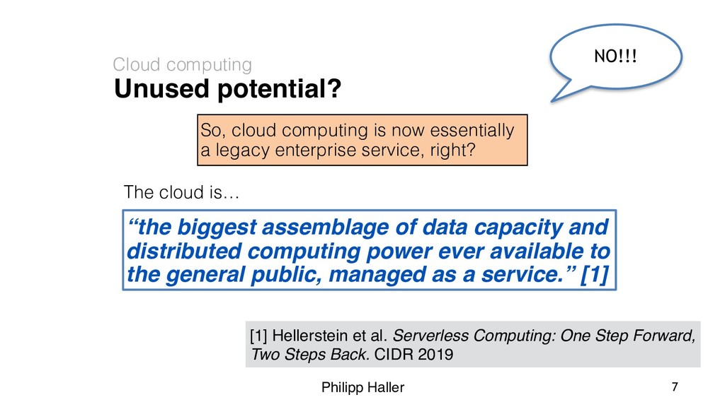 Philipp Haller Unused potential? Cloud computin...