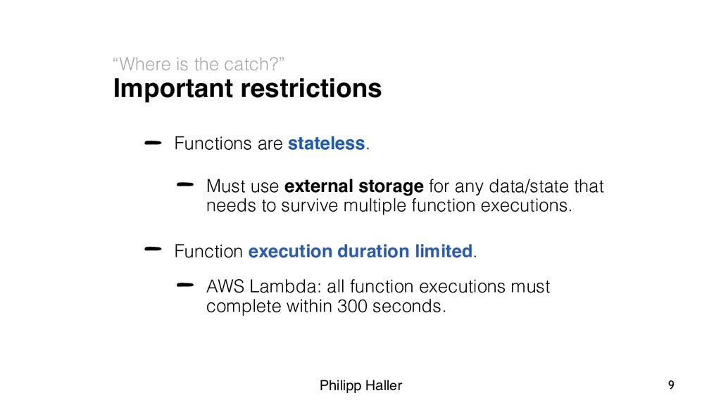 """Philipp Haller Important restrictions """"Where is..."""