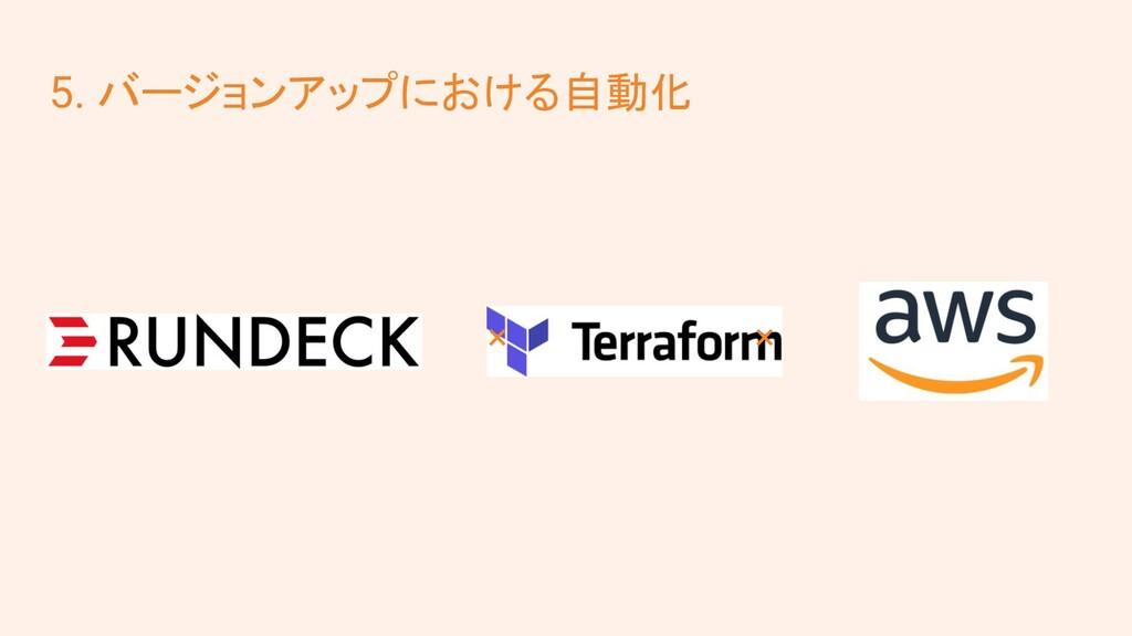 5. バージョンアップにおける自動化   ×          ×