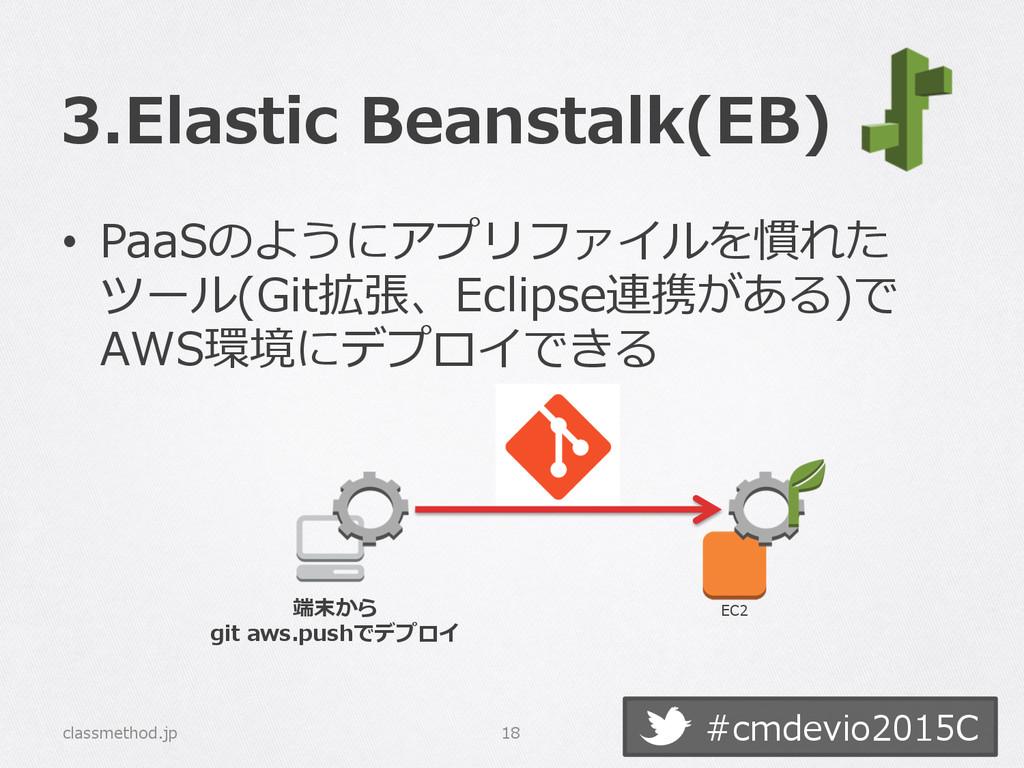 #cmdevio2015C 3.Elastic Beanstalk(EB) • PaaSの...