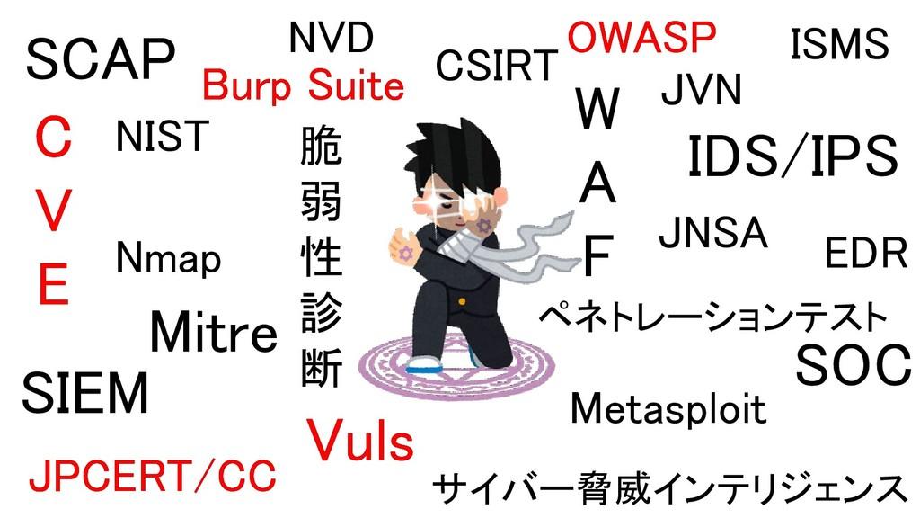 脆 弱 性 診 断 Vuls Burp Suite サイバー脅威インテリジェンス SC...