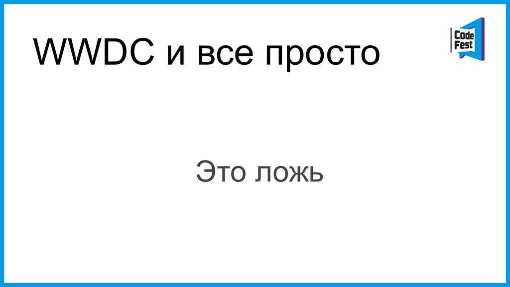 WWDC и все просто Это ложь