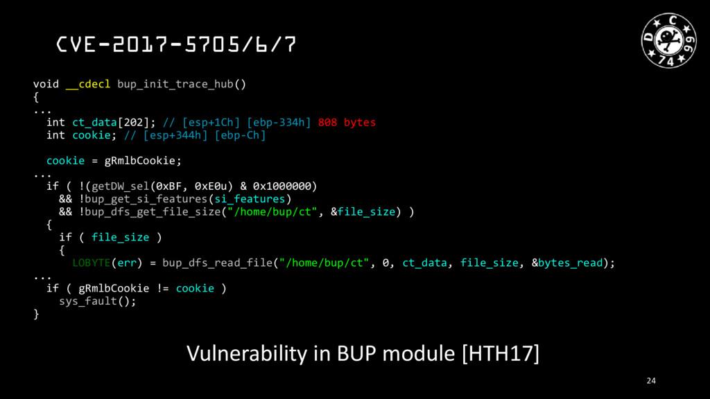 CVE-2017-5705/6/7 void __cdecl bup_init_trace_h...