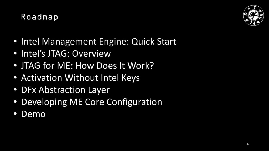 Roadmap • Intel Management Engine: Quick Start ...