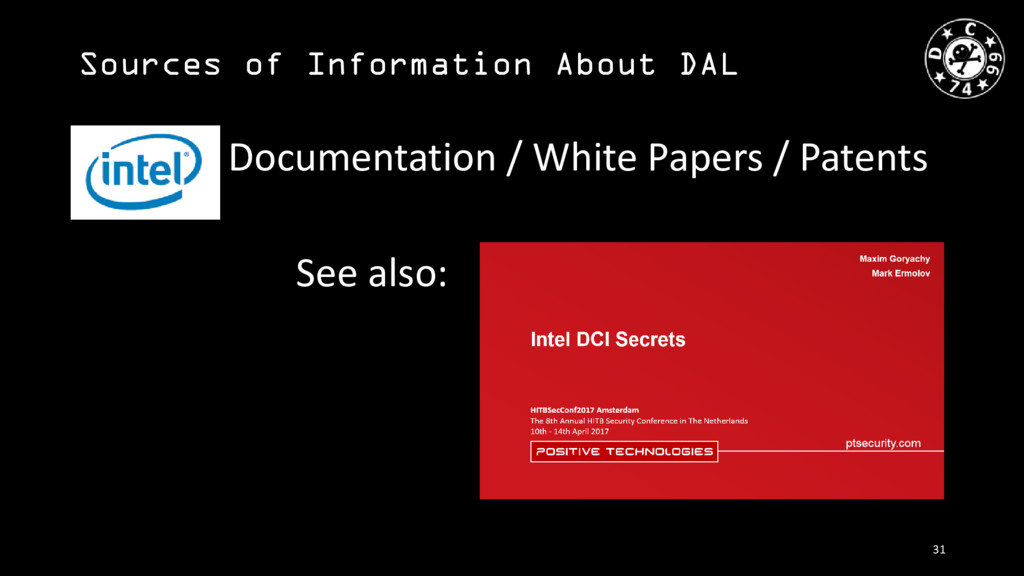 Sources of Information About DAL Documentation ...